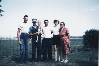 Glenn & George Heberer, Diane, Richard, & Irene Bossler & Lena Koehler - June 1953