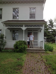 Mark and Mary Ann at farmhouse